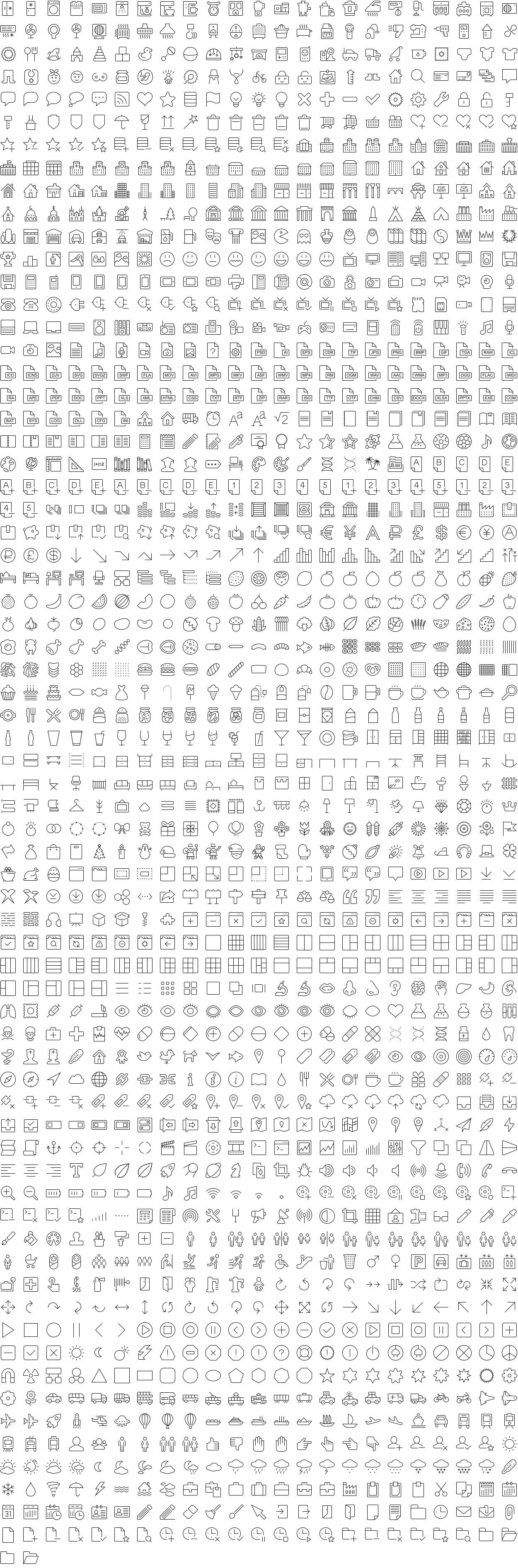 Eldorado Stroke icons full
