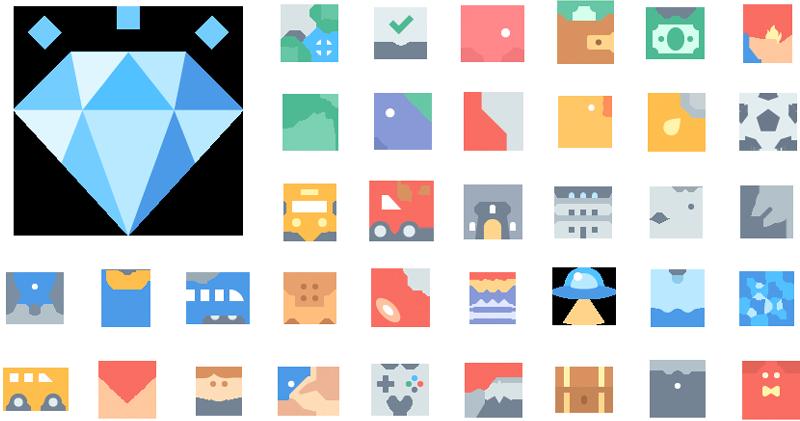 Materia Flat icons