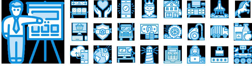 Unigrid Bluetone icons