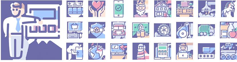 Unilite Shift icons