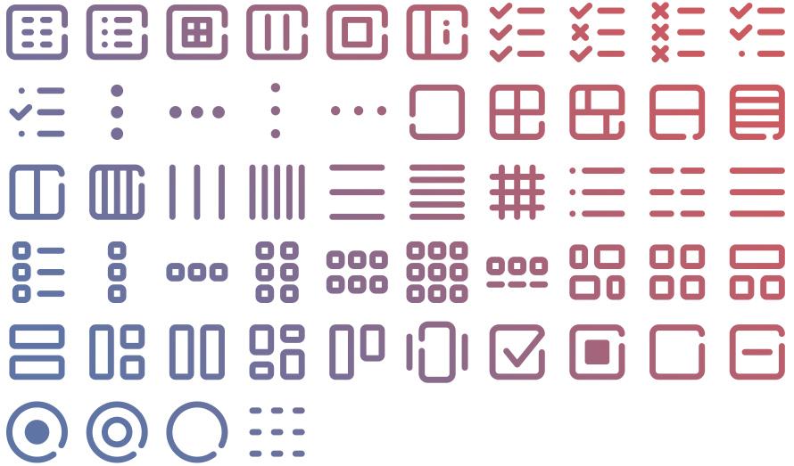 Tidee UI icons
