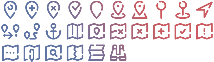 Tidee Maps icons