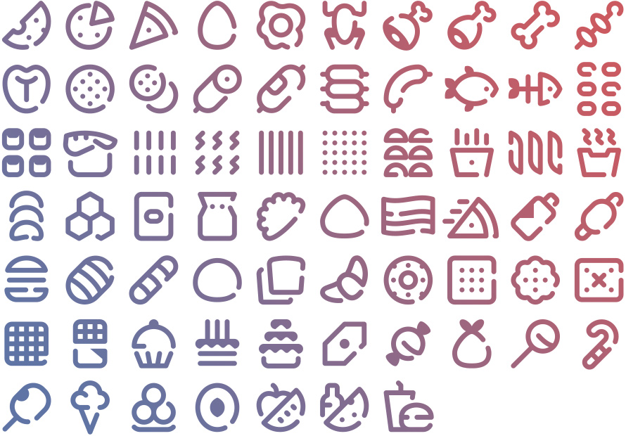 Tidee Food icons