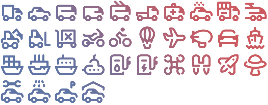 Tidee Transport icons
