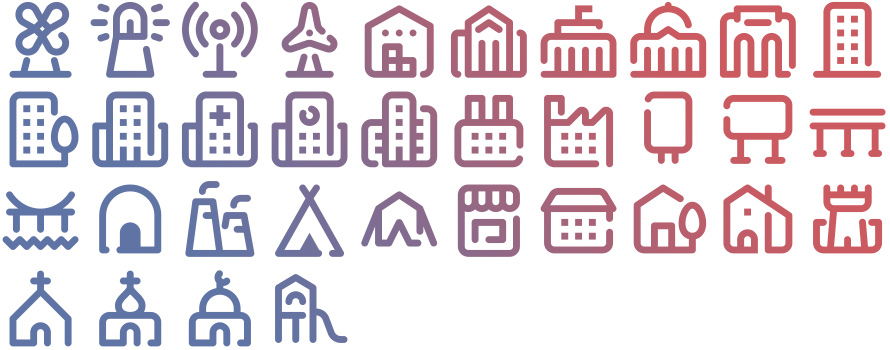 Tidee Buildings icons