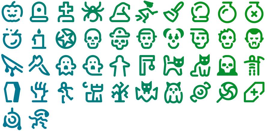 Tidee Halloween icons