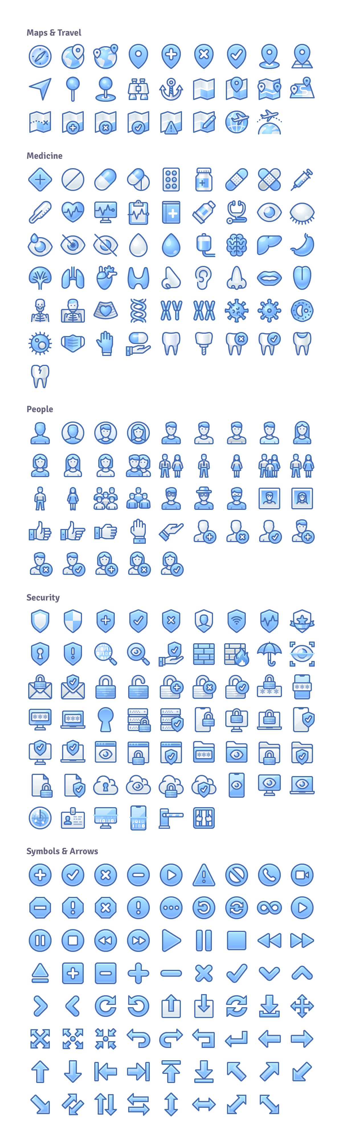 infinity blue icons