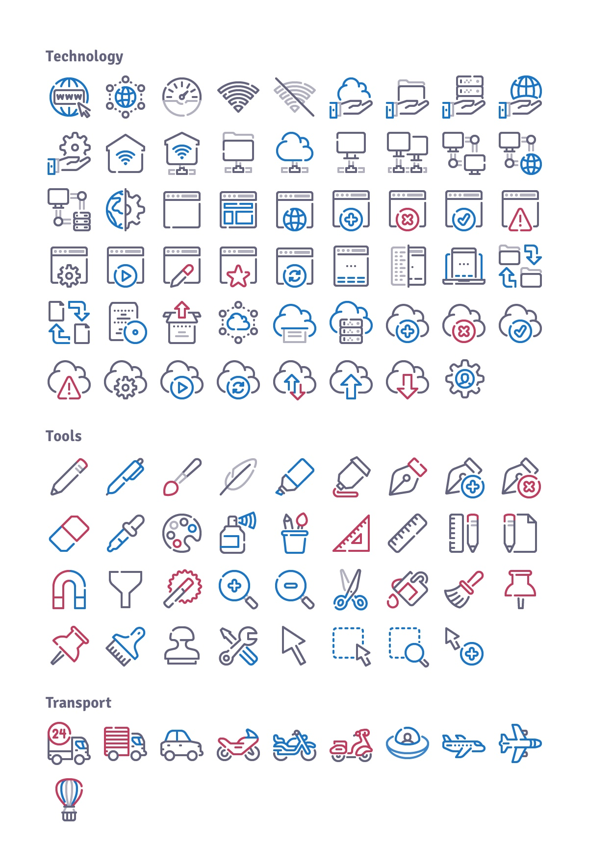 infinity outline icons